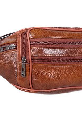 Кожаная сумка мужская на пояс плечо бананка поясная барсетка к...