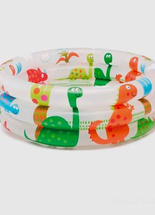 Детский надувной бассейн - динозаврики