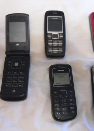 Мобильные телефоны кнопочные, Nokia Zte все рабочие