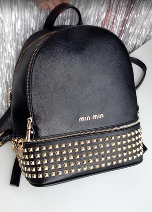Качественный рюкзак с заклепками в стиле michael kors, как новый!