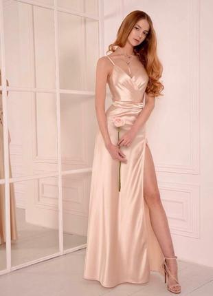 726.   вечернее платье из шелка