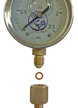 Манометр виброустойчивый, для измерения давления топлива 0-2,5Мпа