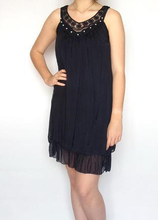 Платье, туника, италия, шелк