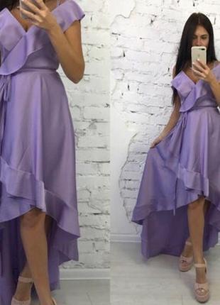 729.   вечернее платье из шелка