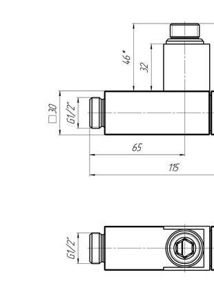 Кран угловой квадрат цена  для  полотенцесушителей