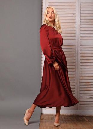 727.   вечернее платье из шелка