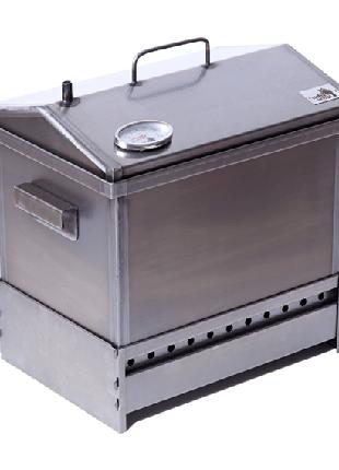 Коптильня горячего копчения с термометром подставкой 400х300х310