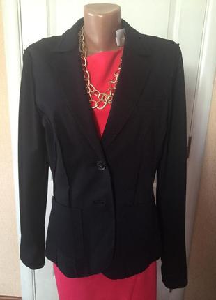 Пиджак женский приталенный черный зеленый код S1632