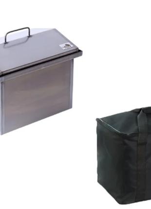 Коптильня горячего копчения (400х300х310) с сумкой