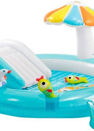 Детский надувной центр бассейн Intex 57165 Аллигатор