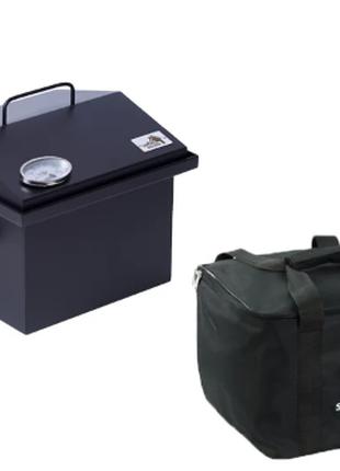 Коптильня 300х300х250 с термометром и сумкой окрашенная