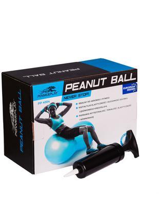 Мяч-орех для фитнеса PowerPlay с насосом 100х50 см зеленый 4004 S