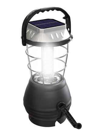 Большой кемпинговый светодиодный фонарь с динамо ручкой Led лампа