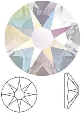 Стразы горячей фиксации сваровски 8+8=звёздочка (копия) сс16
