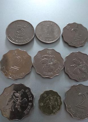Монеты доллары Гонконга для коллекции