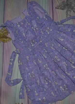 Платье в кролики на 2-3года, большемерит