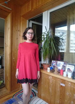 Платье красное вечернее осень весна зима
