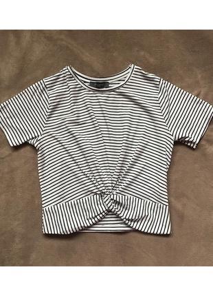 Черно-белая полосатая футболка, топ primark