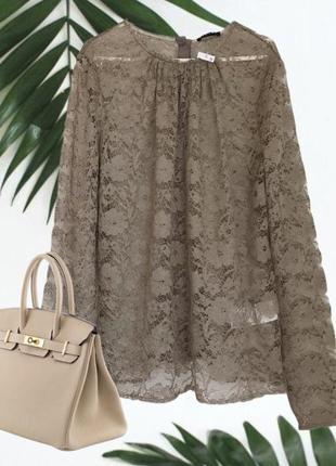 Новая ♥️♥️♥️ гипюровая кружевная блузка sisley.