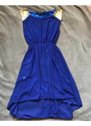 Фиолетовое свободное платье