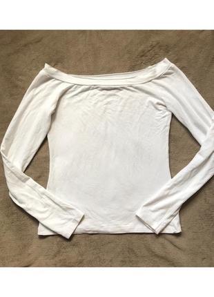 Белая легкая кофта, кроп топ с открытыми плечами asos