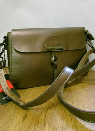Женская кожаная сумка. клатч