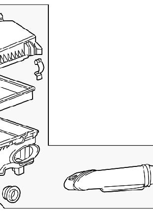 Корпус воздушного фильтра Chevrolet Volt 11-15 с воздухоприемнико