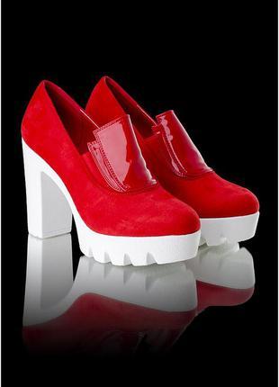 Стильные туфли с тракторной
