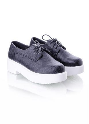 Стильные туфли на утолщенной подошве с цветочным принтом