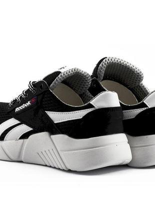 Подростковые кроссовки текстильные летние черные