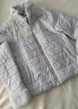 Куртка з мехом кролика