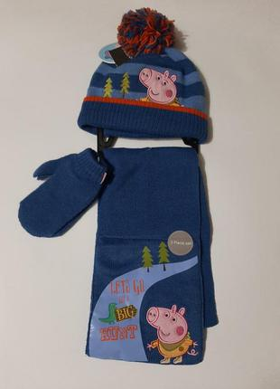 Комплект шапка варешки перчатки george