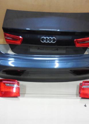 Крышка багажника задний бампер и фонари на седан Audi A6 C7 4G