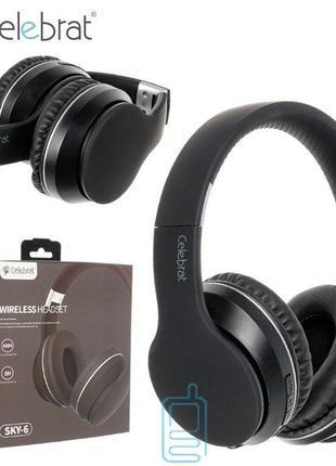 Bluetooth наушники с микрофоном Celebrat SKY-6
