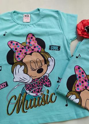 Красиві футболочки для дівчаток mini mouse