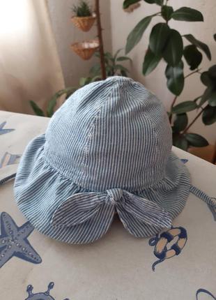 Детская шляпка-панама с завязками