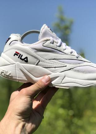 Fila vintage wmns venom low white спортивні шкіряні кросівки о...