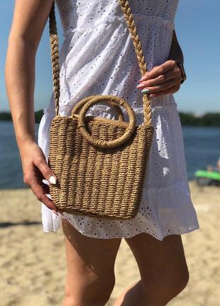 Женская плетенная сумка