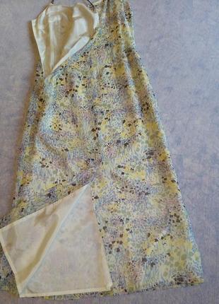 Molton летнее шифоновое платье на бретельках