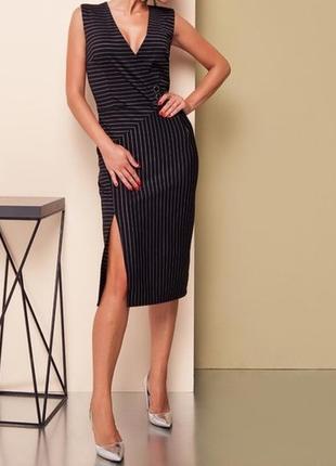 Офисное платье-футляр без рукава grand ua