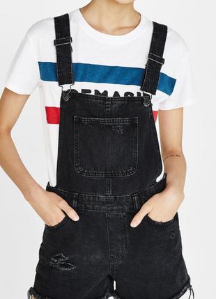 Комбинезон джинсовый шортами хл