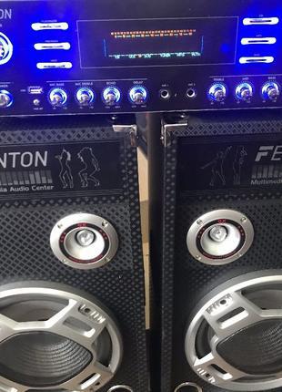 Мощная HI-FI система 5.1 колонки Fenton BLUT\USB\ДУ\RGB LED 1600W