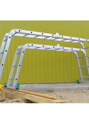 Лестница-трансформер 4*4 и 4*3 16 ступеней 6 метров KRAFT (4х4...