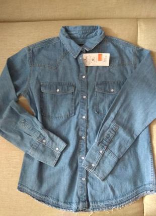 Рубашка джинс м-л