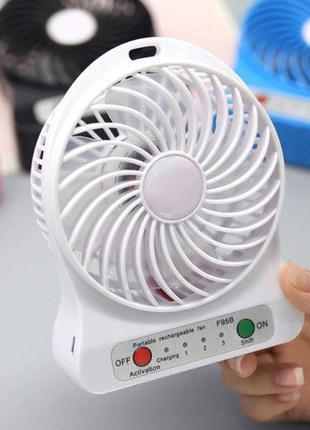 Настольный портативный вентилятор мини на аккумуляторе USB пер...