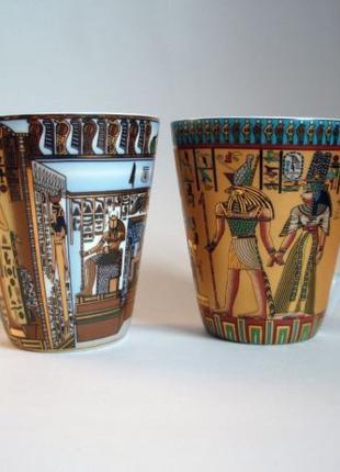 Чашки [с фараонами и богами, иероглифы] | Египет | Сувенир, По...