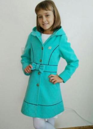 Пальто для девочки тм barbarris
