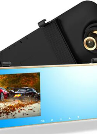 """Зеркало видеорегистратор DVR L1025 7"""" экран 2 камеры"""
