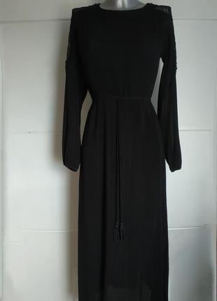 Стильное длинное платье moon river  с вставками из кружева