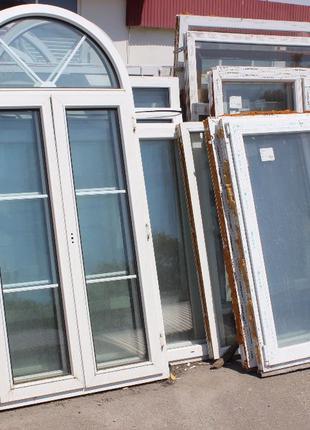 Окна и двери металлопластиковые большой выбор размеров новые и...